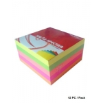 Memo Paper, SINARSPECTRA, Memo Cube, (90x90mm), 5 Colors, 500 Sheets, 12 PC/Pack