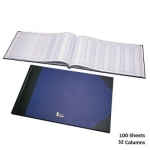 Notebook, Bassile Freres, American Journal Book, 32 Columns, 65.00 cm X 35.00 cm, 100 Sheets