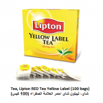Tea, Lipton RED Tea Yellow Label (100 bags)