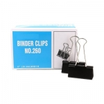 Clips, Jingling, Binder Clips , 2.00 in ( 5.08 cm ), Black, 12 PC/Pack