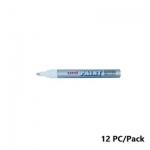 Paint Marker, Uni-Ball, PX-20, Round Tip,2.2 - 2.8mm, Silver, 12 PC/Pack