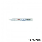 Paint Marker, Uni-Ball, PX-20, Round Tip,2.2 - 2.8mm, White, 12 PC/Pack