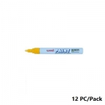 Paint Marker, Uni-Ball, PX-20, Round Tip,2.2 - 2.8mm, Yellow, 12 PC/Pack