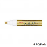 Paint Marker, Uni-Ball, PX-30, Chisel Tip, 4.0 - 8.5mm, Gold, 6 PC/Pack