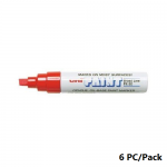 Paint Marker, Uni-Ball, PX-30, Chisel Tip, 4.0 - 8.5mm, Red, 6 PC/Pack