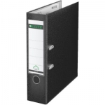 Box File, LEITZ, Lever Arch File, 2-Ring Binder, 80mm, A4, Cardboard , Black ,48 PC/Pack
