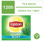 Tea, Lipton GREEN+MINT Teabags (12x100x1.5g) CASE