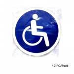 Signs & Nameplates, Whealchair Sticker, Large (14 cm), 10PC/Pack