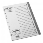 Divider, ROCO,  Index Divider, PVC, A4, A-Z dividers, Gray