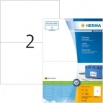 Labels, HERMA 4282, Multi-purpose labels, 210 x 148 mm, white