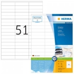 Labels, HERMA 4459, Multi-purpose labels, 70 x 16.9 mm, white