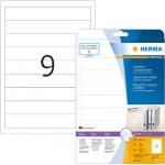 Labels, HERMA 5122, Spine Insert Labels, 190 x 30 mm, white