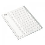 Divider, ROCO,  Index Divider, PVC, A4, 1-12 Numbers, Gray