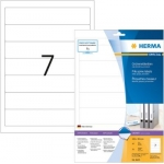 Labels, HERMA 8620, Multi-purpose labels, 192 x 38 mm, white