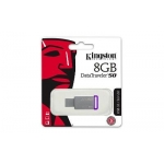 Kingston - 8GB USB 3.0 DataTraveler - 50 DT50/8GB (Metal/Purple)