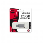 Kingston - 128GB USB 3.0 DataTraveler - 50 DT50/128GB (Metal/Black)