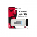 Kingston - 64GB USB 3.0 DataTraveler - 50 DT50/64GB (Metal/Blue)