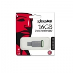 Kingston - 16GB USB 3.0 DataTraveler - 50 DT50/16GB (Metal/Green)