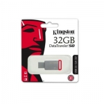 Kingston - 32GB USB 3.0 DataTraveler - 50 DT50/32GB (Metal/Red)