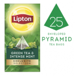 LIPTON Exclusive Selection Green Tea & Intense Mint (6x25x50g) pyramid CASE