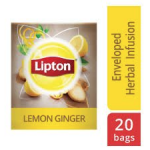 Lipton Herbal Infusion Lemon & Ginger (16x20 Enveloped teabags) CASE