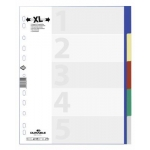 Divider, DURABLE, Color Index Divider, PP- Extrawide, A4, 5 Colors