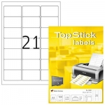 Labels, Top Stick, Multi-purpose labels, 63.5 x 38.1 mm, white