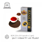 Basilur, Earl Gray Tea Capsule (10 x 10 x 2 gm) case