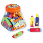 Rubber Eraser, Y-PLUS,  Assorted Colors, 36 PC/Pack