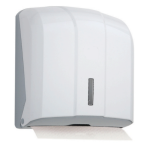 Dispenser for Folded Paper Towel Capacity 300 (White)