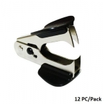 Stapler, STD, Staple Remover with Lock L-8, Assorted Color, 12 PC/Pack