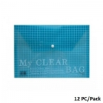 Documents Covers, My Clear Bag, Documents Bags, A4, Blue, 12 PC/Pack