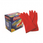 Cleaner, Polipak Latex Gloves, Size: Large, 25 PC/Pack