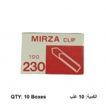 Clips, MIRZA, Paper Clip 230, 30 mm, Nickel Plated, 10 PC/Pack