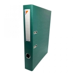 Box File, MINTRA, Lever Arch File, 2-Ring Binder, Cardboard, 50mm, A4, Green