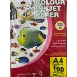 Colored Paper, Color Inkjet Paper, 100 gsm, A4 (100 sheets), Matte Paper, White
