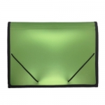 Documents Covers, SIMBA, Expanding File, 12 Pockets with Rubber Side, Green