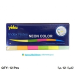Memo Paper, YIDOO,  Index Notes, (20x50mm), Neon Color,50 Sheets/pads, 6 Color, 12 PC/Pack
