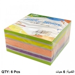 Memo Paper, YIDOO, Sticky Note, (75x75mm), 400 Sheets, 4 Neon Colors + 1 Sliver, 6 PC/Pack