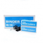 "Clips, Jingling, Binder Clips No.155 , 1 1/4"" in ( 32mm ), Black, (Pack of 12 boxes)"
