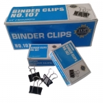"Clips, Jingling, Binder Clips No.107,  3/4"" in ( 19mm ), Black, (Pack of 12 boxes)"