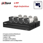 Surveillance Camera 4MP Package with Installation