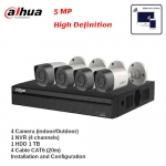 Surveillance Camera 5MP Package with Installation