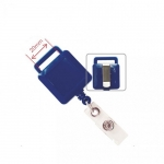 Badges & Holders, KEJEA, Square Retractable Badge Holder with Metal Slip, Plastic/Metal, Blue​