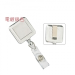 Badges & Holders, KEJEA, Square Retractable Badge Holder with Metal Slip, Sliver