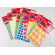 Labels, TANEX, 10 Sheet / bags, Round 25 mm,  6 Mixed Colors , 20 Bags/ Pack